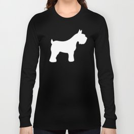 Silver Schnauzers - Simple Dog Silhouettes Pattern Long Sleeve T-shirt