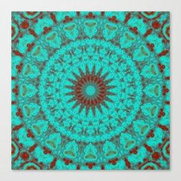 Mandala Fractal in Oxidized Copper 2 Canvas Print