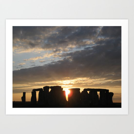 Sunset at Stonehenge Art Print