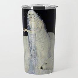 """The Snow Queen"" Fairy Tale Art by Edmund Dulac Travel Mug"