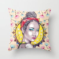 sunshine Throw Pillows featuring Sunshine by Peter Fulop