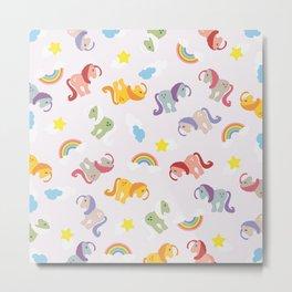 Rainbow Ponies Metal Print