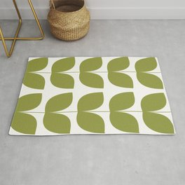 Mid Century Modern Leaves Green #society6 #buyart Rug