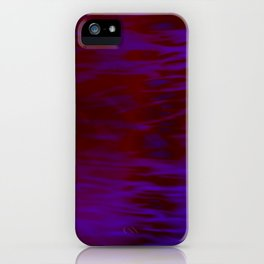 Red and Blue Abstract iPhone Case