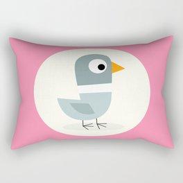 Mr Bird Pink Rectangular Pillow