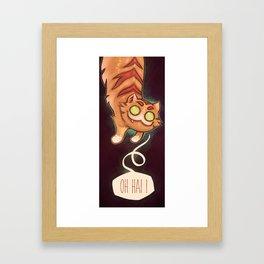 Oh hai ! Framed Art Print
