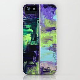 Violet & Green On A Rainy Day iPhone Case