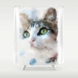 Calico Katie Shower Curtain