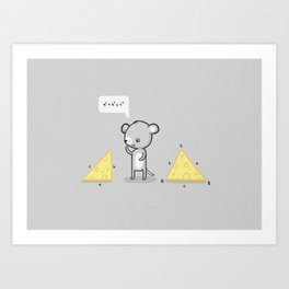 Mouse math Art Print