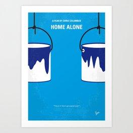 No427 My Home alone minimal movie poster Art Print