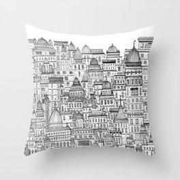 The Long Town  Throw Pillow