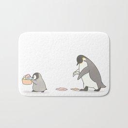 Chores (white background) Bath Mat