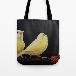Canary and Butterfly Tote Bag