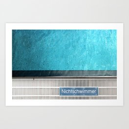 Pool-Party Remix #1 Art Print