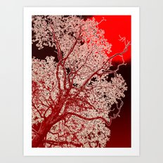 Surreal Red Harmony Art Print