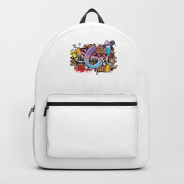 Hiphop Dancer Graffiti Artist Typography 6th Birthday Hip Hop Urban Wall Mural Street Art Backpack