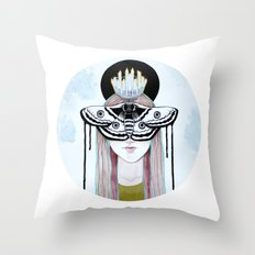 moth queen Throw Pillow