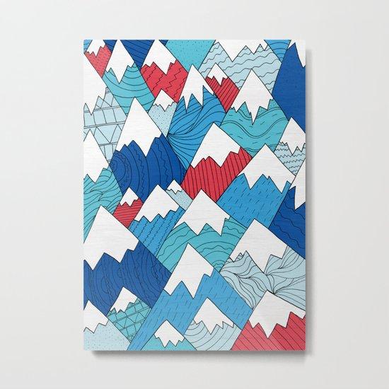 Mountain Pattern 2.0 Metal Print