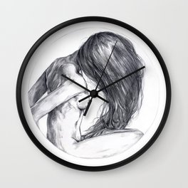 Portrait Study 1 Wall Clock