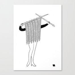 Miss Knit Canvas Print
