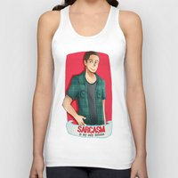 sarcasm Tank Tops featuring Sarcasm by IanPinkis