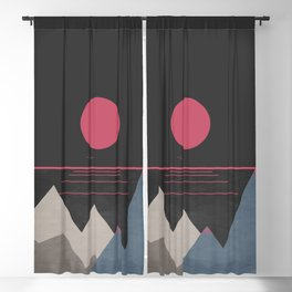 Minimal Sunset 10 Blackout Curtain