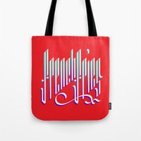 french fries Tote Bags featuring French Fries by makesake