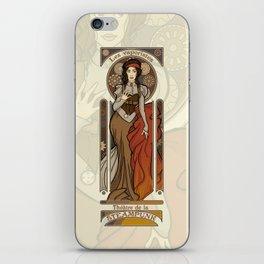 Steampunk Nouveau- Cream iPhone Skin