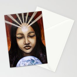 Shine Your Light for the World to See // Visionary Art Spirit Soul Consciousness Chakra Third Eye Stationery Cards