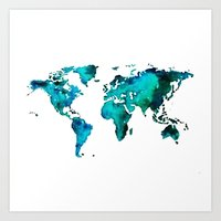 maps Art Prints featuring maps by StraySheep