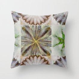 Dentalium Speculation Flower  ID:16165-144752-76360 Throw Pillow