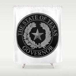 Texas State Governor Seal Shower Curtain