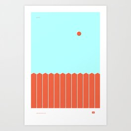 Six and Out Art Print