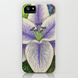 Stargazer Lily in the Lilac Verse iPhone Case