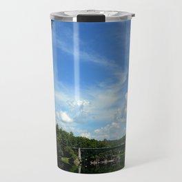 Summer Cloud Parade Delaware River View Travel Mug