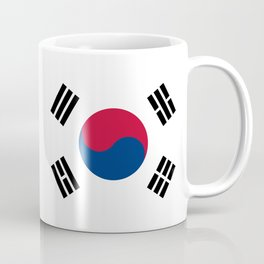 National flag of South Korea, officially the Republic of Korea, Authentic version - color and scale Coffee Mug