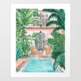 Moroccan Dream - Blonde Hair (Other Hair & Skin Tones Available) Art Print