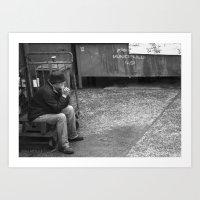 Thinking man  Art Print