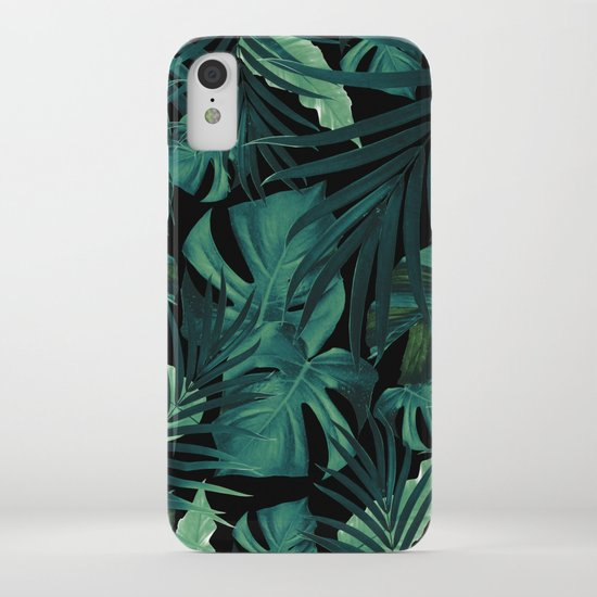 Tropical Jungle Night Leaves Pattern #1 #tropical #decor #art #society6 by anitabellajantz