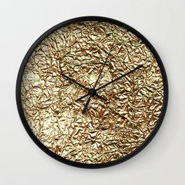 Gold crease Wall Clock
