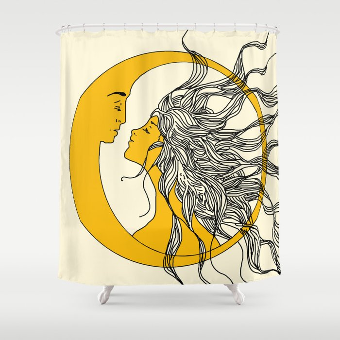 Sun And Moon Shower Curtain By Nadja1