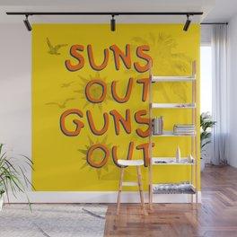 Guns Out Wall Mural