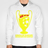 manchester Hoodies featuring Champions League Manchester by Sport_Designs
