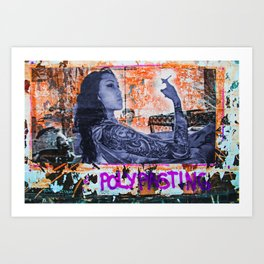 Polypasting in Bushwick, Brooklyn, NYC Art Print