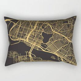 OAKLAND CALIFORNIA GOLD ON BLACK CITY MAP Rectangular Pillow