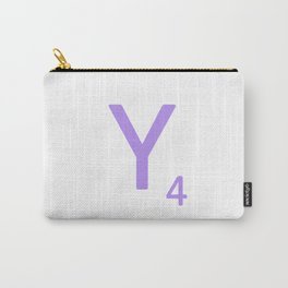 Lavender Alphabet Letter Y Scrabble Carry-All Pouch