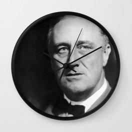 President Franklin Delano Roosevelt Wall Clock