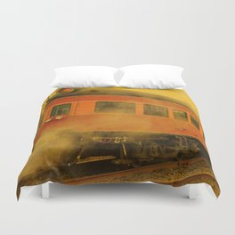 CHRISTMAS STEAM TRAIN Duvet Cover