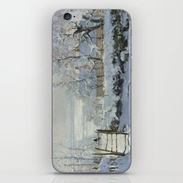 Monet, The Magpie (La Pie) (Die Elster) 1868-1869 iPhone Skin