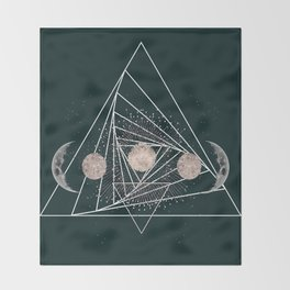 Moon Matrix Throw Blanket